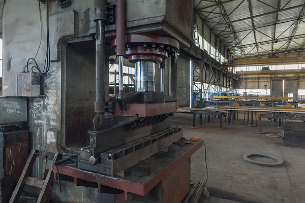 large hydraulic press for metal, very ol
