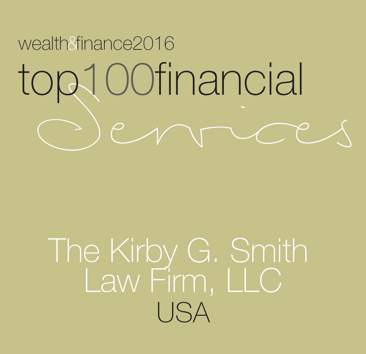 Wealth & Finance Top 100 Services