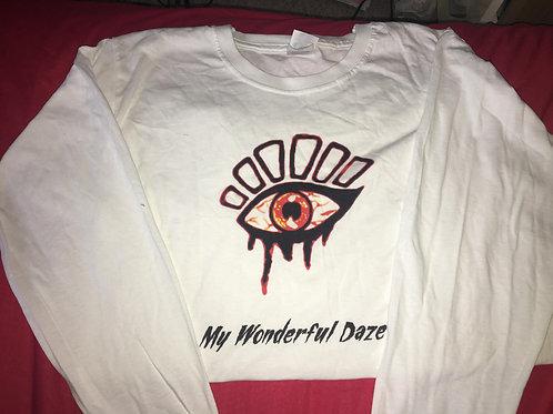 Logo long sleeved T-shirt (white)