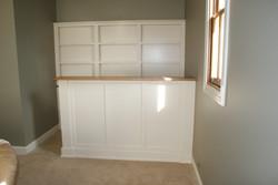 Bar and Open Shelves