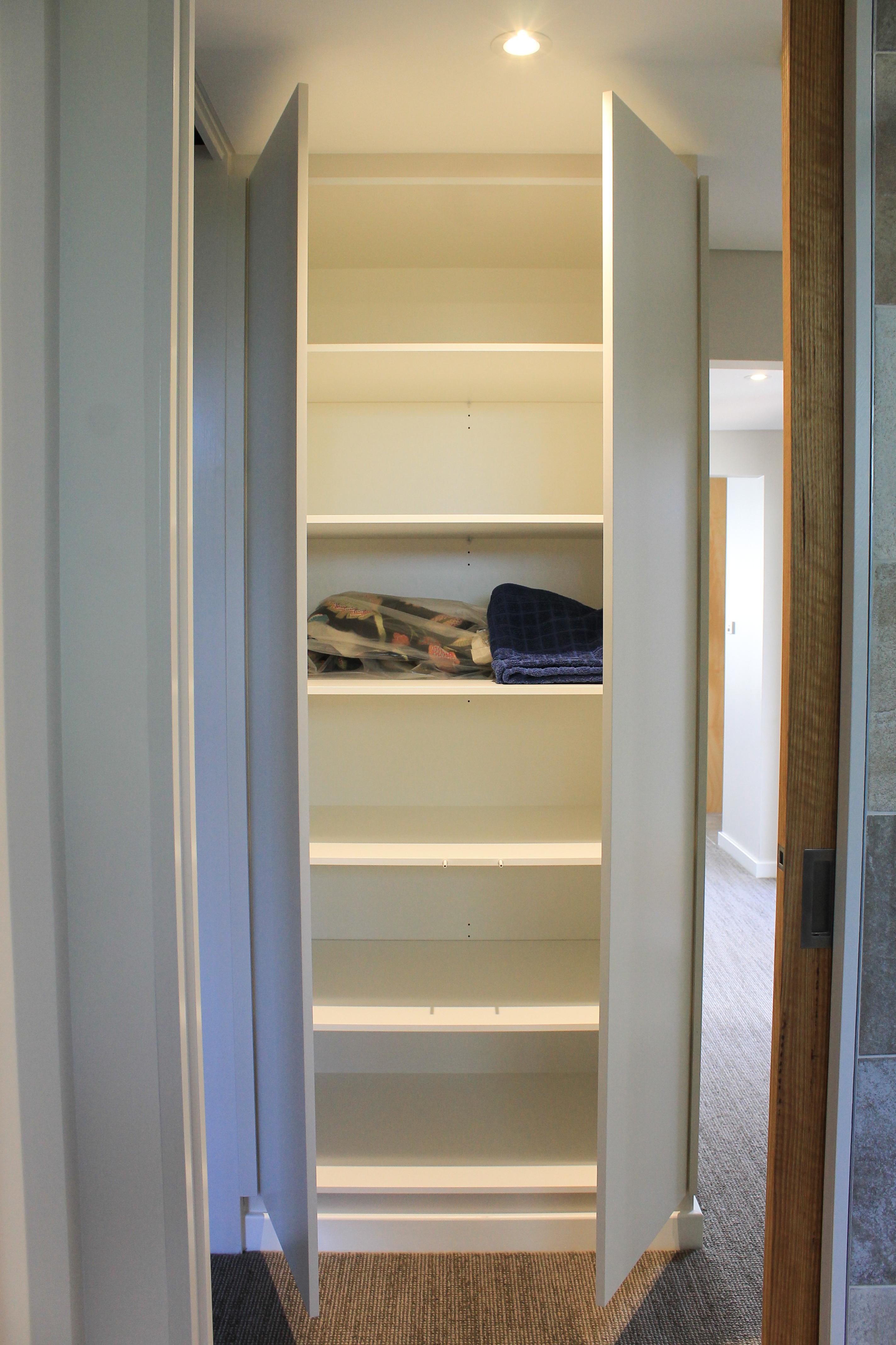 Hidden Linen Cupboard - Doors Open