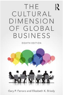 The Cultural Dimension of Global Business, 8th ed. Ferraro, G. and Briody, E. 2017. Routledge Press.