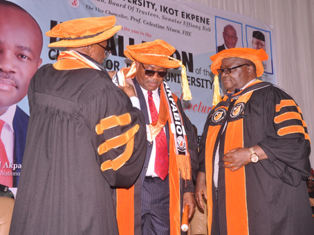 Akpabio Becomes First Ritman University Chancellor