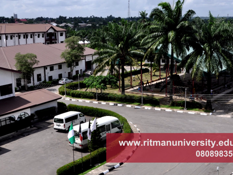 All Ritman University Courses Accredited by NUC