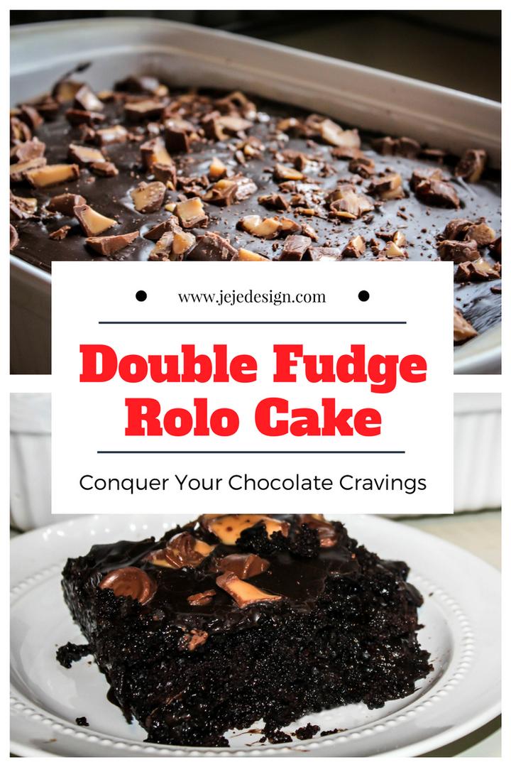 Double Fudge Rolo Cake