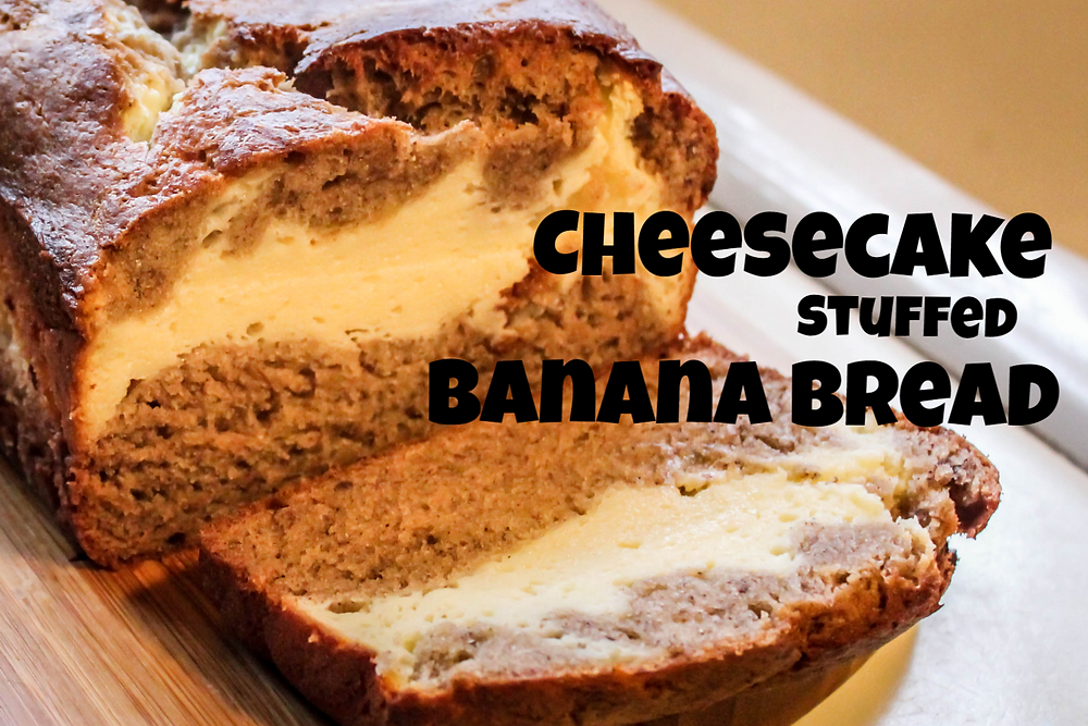 Cheesecake Stuffed Banana Bread by JeJe Design