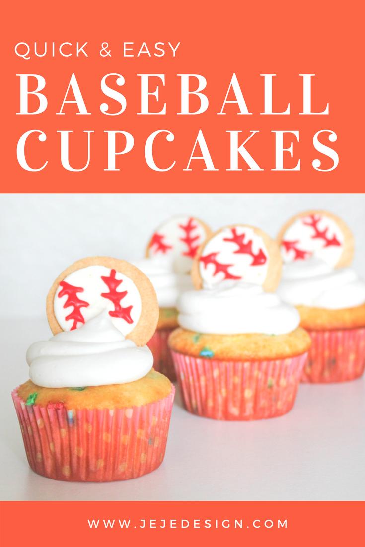 Baseball Cupcakes by JeJe Design