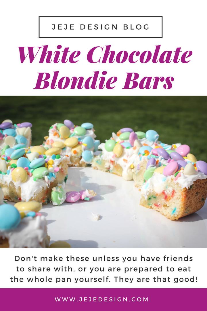 White Chocolate Blondie Bars