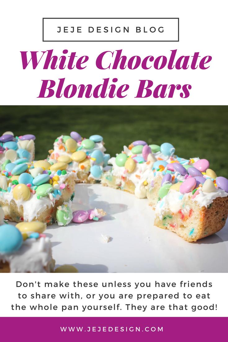 White Chocolate Blondie Bars by JeJe Design