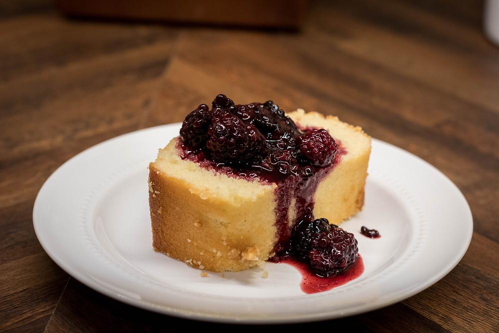 Blackberry Pound Cake by JeJe Design