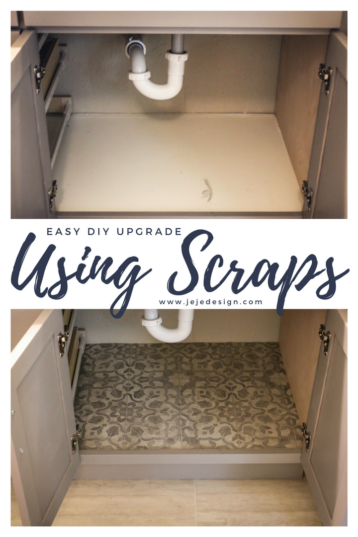 Easy DIY- Cabinet Under the Sink Upgrade