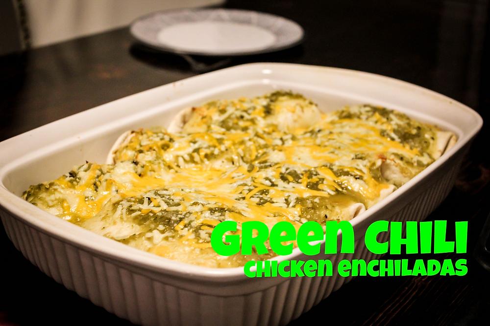 Green Chili Chicken Enchiladas by JeJe Design