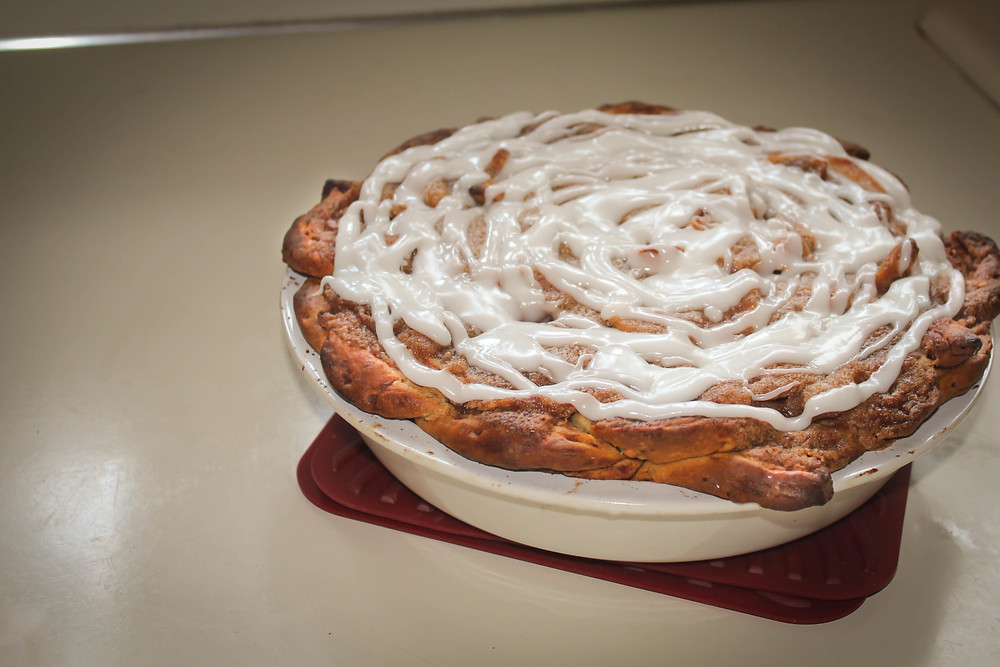 Cinnamon Roll Apple Pie by JeJe Design