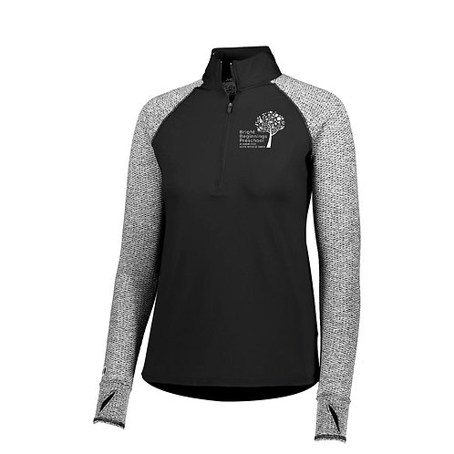 Women's half-zip axis top
