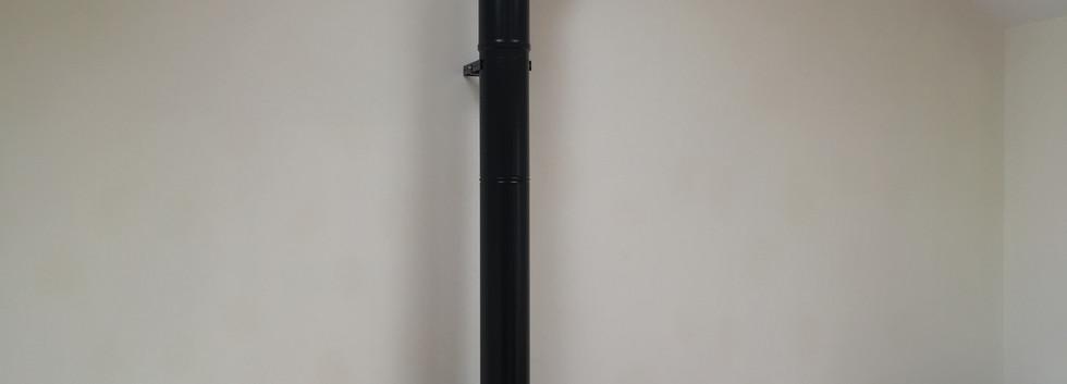 Twin wall flue and Contura 51L stove