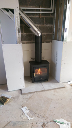 stove and false chimney breast