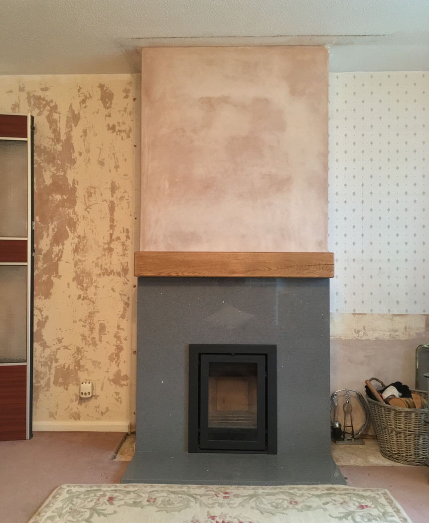 Contura i4 stove and new fireplace
