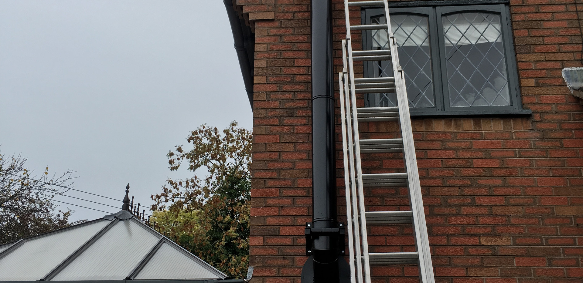 Black twin wall external insulated flue