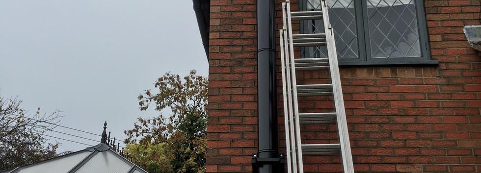 Black twin wall external insulated flue