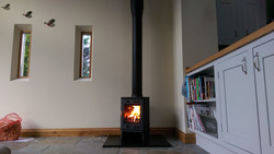 freestanding stove slate hearth