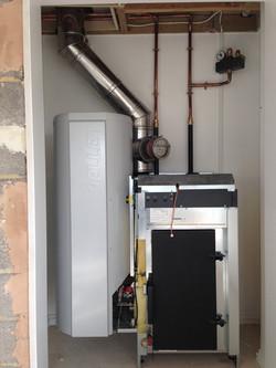 pellet boiler installation