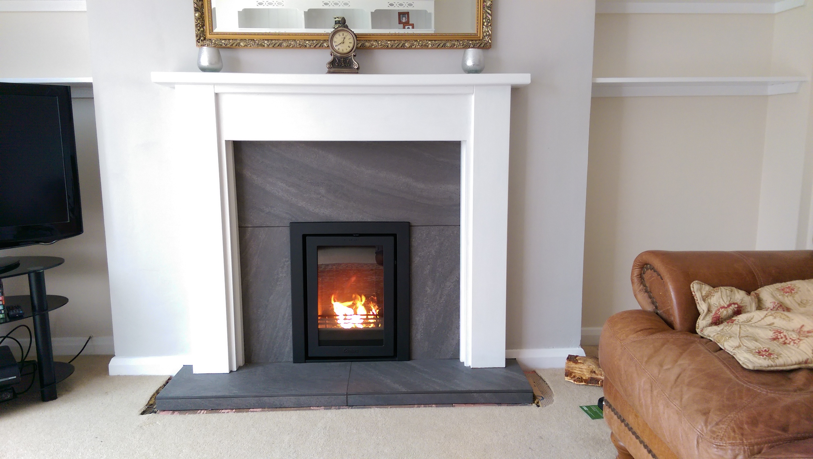 inset wood burning stove