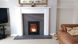 inset wood burning stove