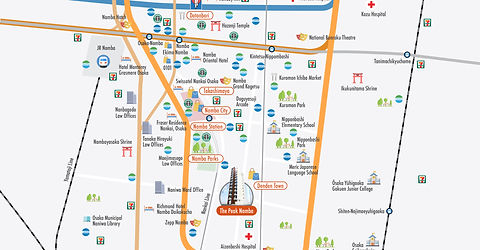 (DWG) The Peak Namba_Detailed Map_MAP_EN