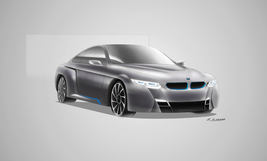 Bmw i4 skiss