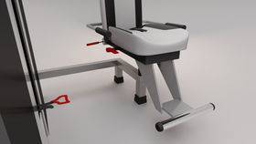 Neck training machine seat