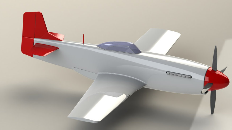 SolidWorks airplane