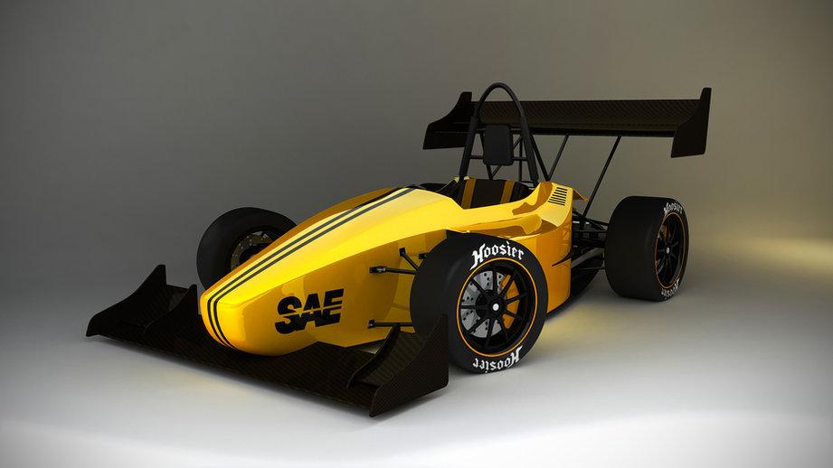 FSAE car yellow
