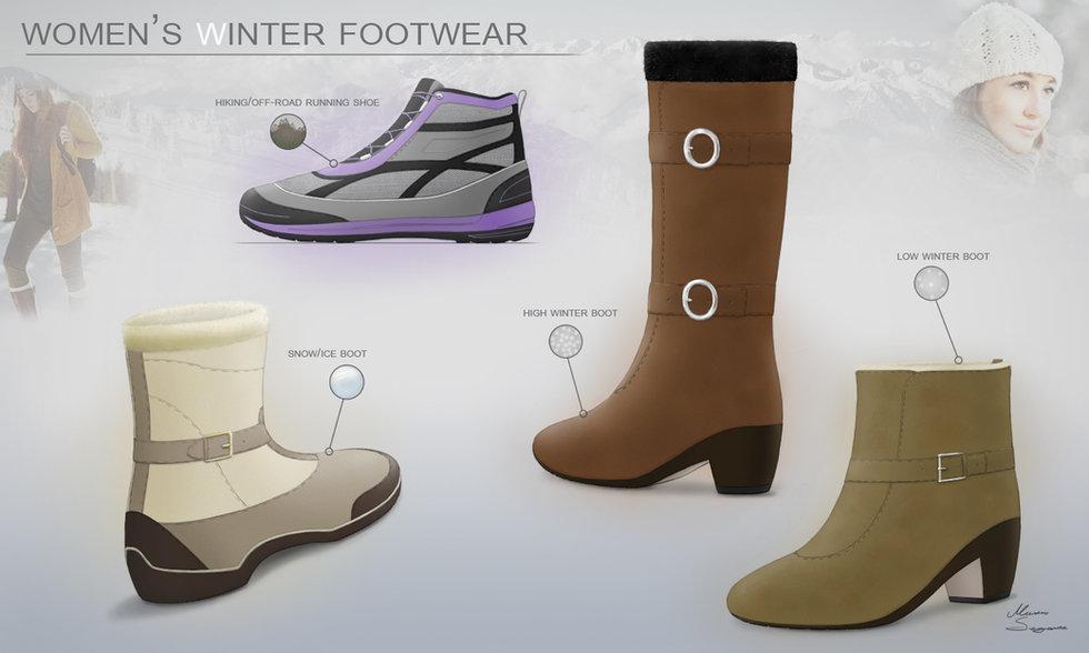 Women's winter shoes design