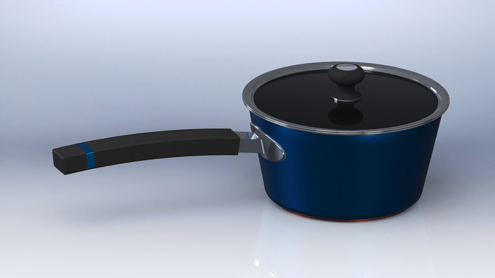 Cooking pot design render