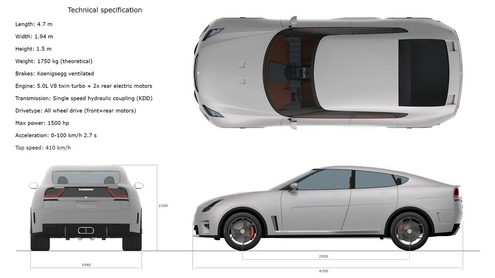 Koenigsegg Parera technical specification