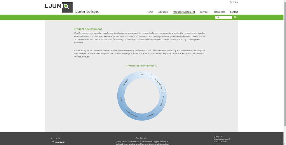 Ljuniq website design