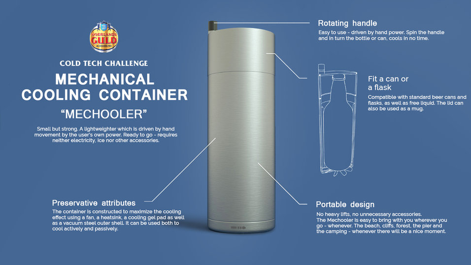 Mechanical cooling container