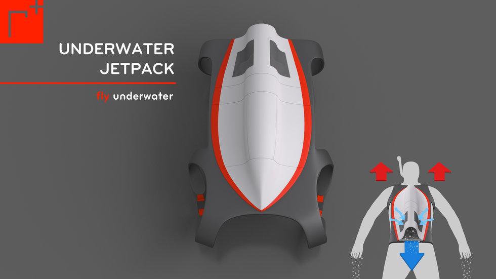 Undervattens jetpack