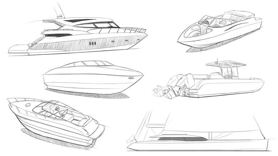 Båtskisser