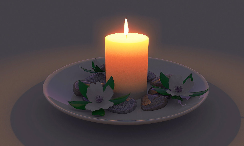 Candle still life render