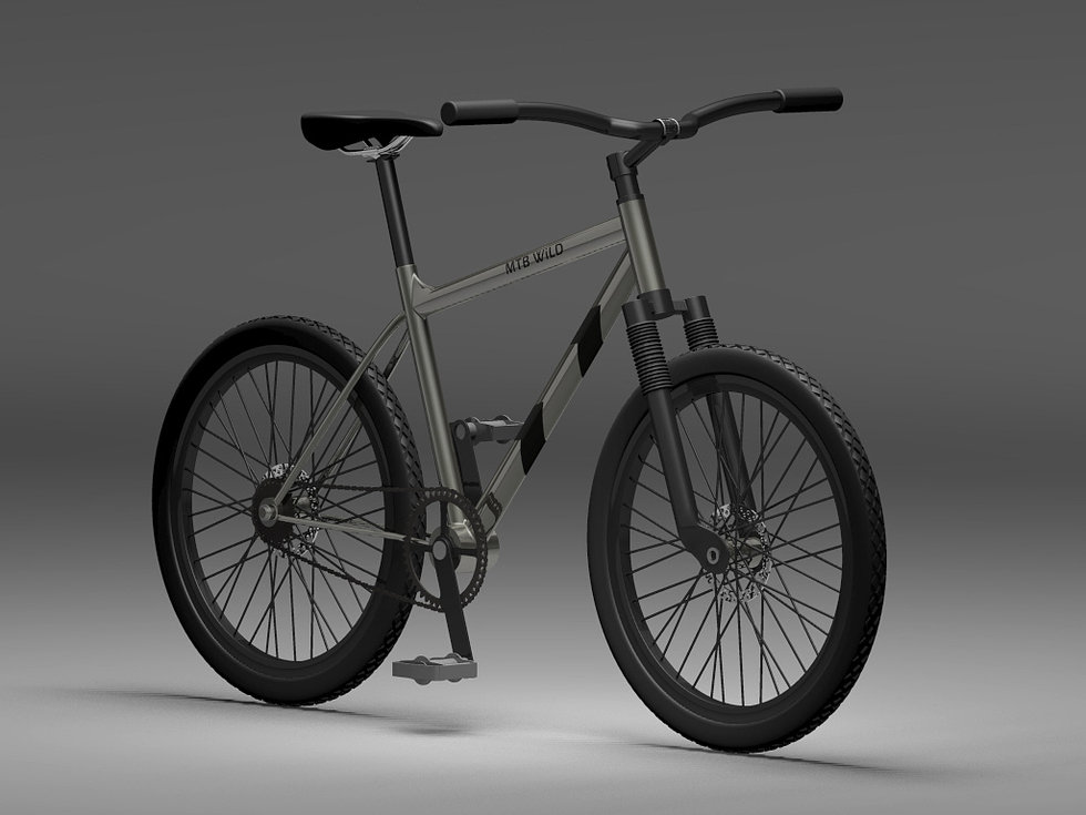 Mountain bike render