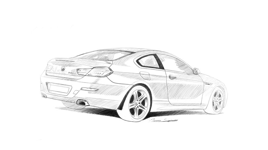Bmw 6-series sketch