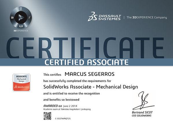 SolidWorks certifikat
