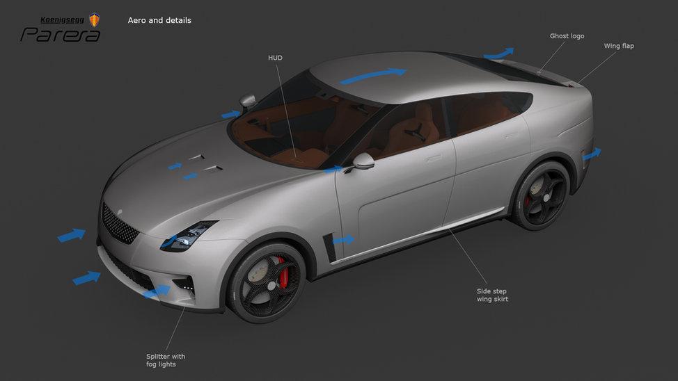 Koenigsegg Parera aero and details