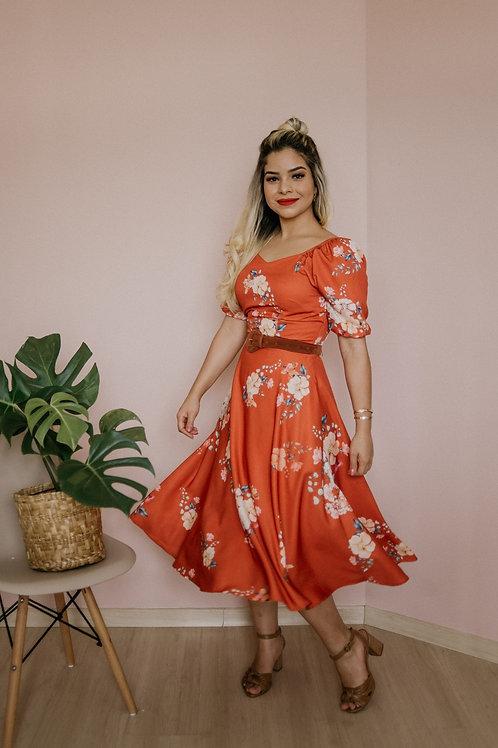 Vestido Flores e Amores