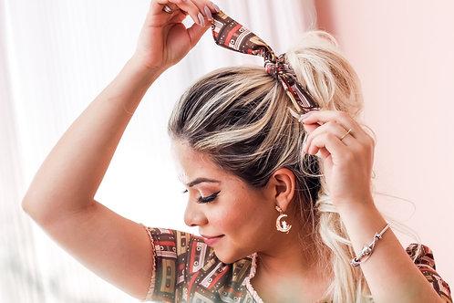 Prendedor  de cabelo music tape