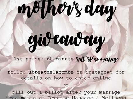 Massage Giveaway: Mother's Day 2019