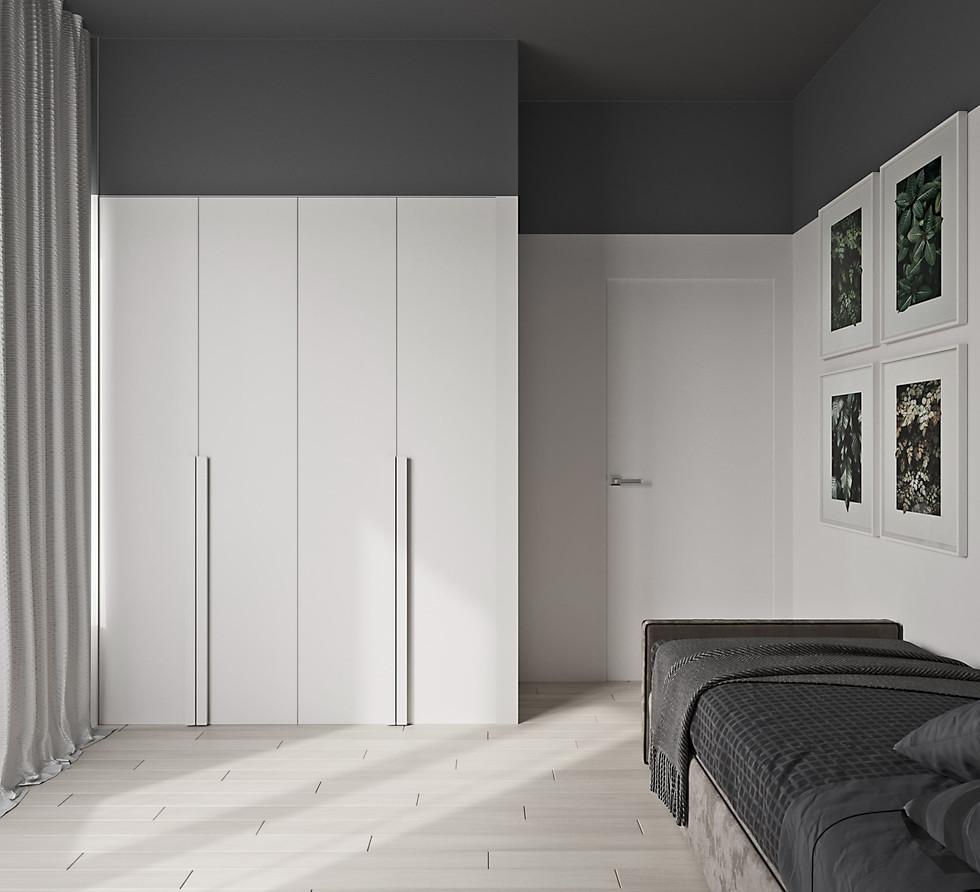 3д визуализация гостевой спальни