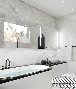 3d визуализация ванной комнаты