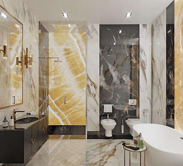 визуализация мастер ванной